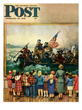 """Washington Crossing the Delaware"" Saturday Evening Post Cover  February 24  1951"