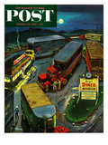 """Truck Stop Diner"" Saturday Evening Post Cover  October 10  1953"