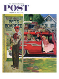 """Boarding the Dog"" Saturday Evening Post Cover  August 24  1957"