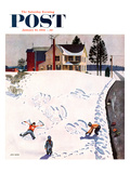 """Snow Angels"" Saturday Evening Post Cover  January 10  1953"