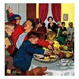 """Crashing Mom's Card Party"", December 20, 1952 Giclée par Richard Sargent"