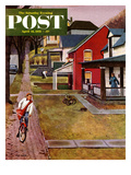 """Paperboy"" Saturday Evening Post Cover  April 14  1951"