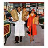 """""""Sack Full of Trouble"""", April 14, 1956 Giclée par Richard Sargent"""
