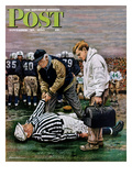"""Ref Out Cold"" Saturday Evening Post Cover  November 25  1950"
