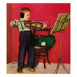 """Violin Practice"", February 5, 1955 Giclée par Richard Sargent"