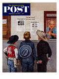 """Wanted Posters"" Saturday Evening Post Cover  February 21  1953"