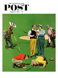"""Eighteenth Hole"" Saturday Evening Post Cover  August 6  1955"
