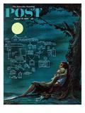 """Moonlit Future"" Saturday Evening Post Cover  August 15  1959"