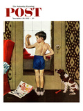 """Young Charles Atlas"" Saturday Evening Post Cover  November 29  1952"
