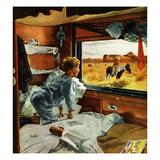 """Train Window on the West"", July 24, 1954 Giclée par George Hughes"