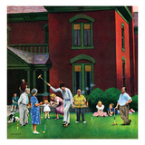 """Croquet Game""  September 29  1951"