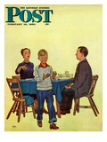 """""""Wash Your Hands"""" Saturday Evening Post Cover  February 18  1950"""