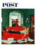 """""""Sunday Visitors"""" Saturday Evening Post Cover  February 6  1954"""