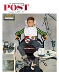 """In the Dentist's Chair"" Saturday Evening Post Cover  October 19  1957"