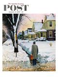 """Snowy Ambush"" Saturday Evening Post Cover  January 24  1959"