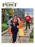 """Picking Poindexter"" Saturday Evening Post Cover, October 17, 1959 Giclée par Richard Sargent"