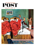 """Parents' Reveille"" Saturday Evening Post Cover  February 20  1954"