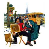 """""""Parisian Artist & Tourist"""", July 11, 1959 Giclée par Richard Sargent"""