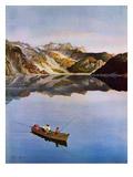 """""""Fishing on Mountain Lake""""  July 16  1955"""