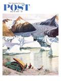 """""""Portage Glacier"""" Saturday Evening Post Cover  July 25  1959"""