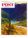 """Blueberry Hill"" Saturday Evening Post Cover  August 13  1955"