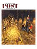 """""""Bring Home Pumpkins"""" Saturday Evening Post Cover  November 1  1952"""