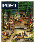 """Labor Day Picnic"" Saturday Evening Post Cover  September 11  1954"