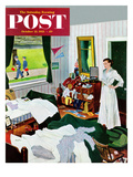 """Messy Room  Neat Boys"" Saturday Evening Post Cover  October 22  1955"
