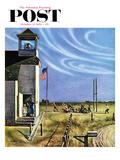 """""""Endl of Recess"""" Saturday Evening Post Cover  October 17  1953"""