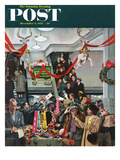 """Department Store at Christmas"" Saturday Evening Post Cover  December 6  1952"