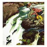"""""""Salmon Running Upstream""""  May 17  1952"""