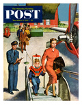 """Space Traveller"" Saturday Evening Post Cover  November 8  1952"