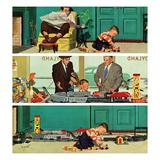 """New Toy Train"", December 19, 1953 Giclée par Richard Sargent"