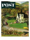 """""""Rural Wedding"""" Saturday Evening Post Cover  May 29  1954"""
