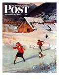 """Winter on the Farm"" Saturday Evening Post Cover  December 30  1950"