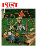 """Swing-set"" Saturday Evening Post Cover  June 16  1956"