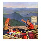 """""""Lookout Point"""", July 18, 1953 Giclée par Richard Sargent"""
