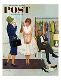 """First Prom Dress"" Saturday Evening Post Cover  April 18  1959"