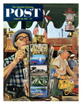 """Postcards"" Saturday Evening Post Cover  August 25  1951"