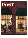 """Dancing Class"" Saturday Evening Post Cover  May 10  1952"