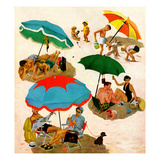 """Couples at the beach""  August 2  1952"