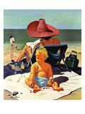 """""""Baby & Nail Polish""""  July 22  1950"""