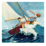 """Seasick Sailor"", August 22, 1959 Giclée par Richard Sargent"