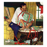 """All Wrapped Up in Christmas"", December 19, 1959 Giclée par Richard Sargent"