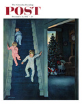 """Christmas Morning"" Saturday Evening Post Cover  December 24  1955"