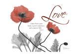 Love Poppies in Red Reproduction d'art par Albert Koetsier