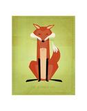 The Crooked Fox Reproduction d'art par John Golden