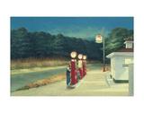 Station essence, vers 1940 Reproduction d'art par Edward Hopper