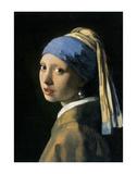 La jeune fille à la perle, vers1665 Reproduction d'art par Johannes Vermeer