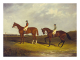 Elis' with J Day Up: Winner of the St Ledger  1836 and 'Bay Middleton' with J Robinson Up: the…